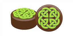 Celtic Knot Chocolate Covered Cookie