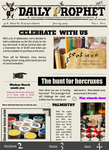 Harry Potter inspired birthday bash