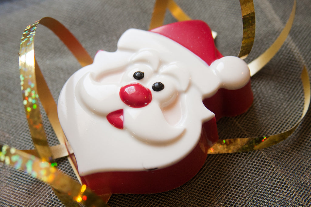 Santa chocolate covered cookie