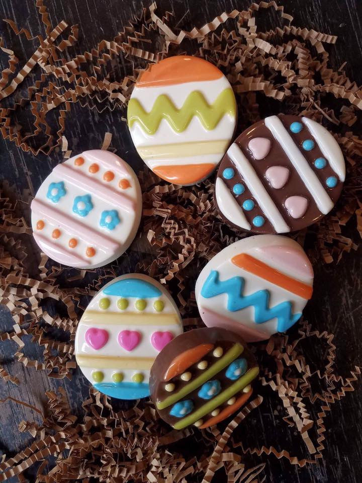 Easter Egg Chocolate Covered Cookie