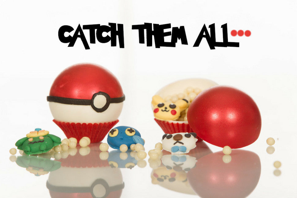Pokeball inspired novelty chocolate truffles