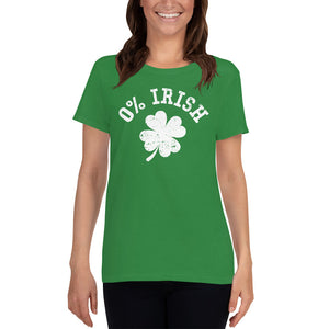 St Patrick's Day - 0% Irish - Ladies Tee