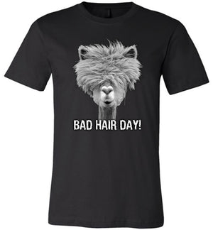 Alpaca Bad Hair Day - Unisex Tee - Absurd Ink