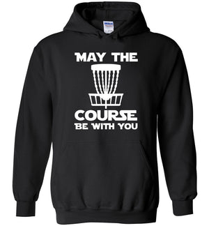 Disc Golf Hoodie - May The Course Be With You - Absurd Ink