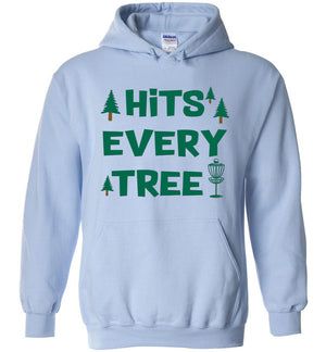 Disc Golf Hoodie - Hits Every Tree - Absurd Ink