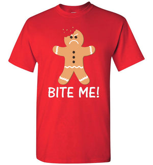 Gingerbread Man - Bite Me - T-Shirt - Absurd Ink
