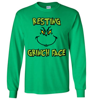 Resting Grinch Face - Long Sleeve Tee