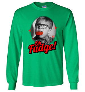 Oh Fudge - A Christmas Story - Long Sleeve(green) - Absurd Ink