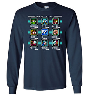 Mega Man 2 Bosses - Long Sleeve Tee