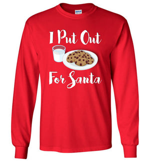 I Put Out For Santa - Long Sleeve Tee - Absurd Ink