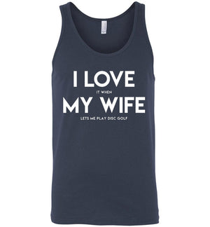 Disc Golf Tank - I Love My Wife - Absurd Ink