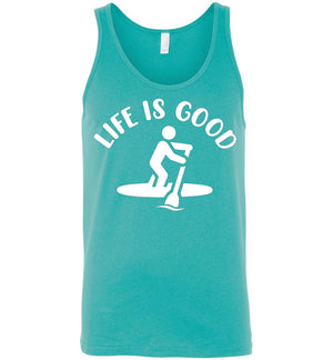 Life Is Good Paddleboard - Tank Top - Absurd Ink
