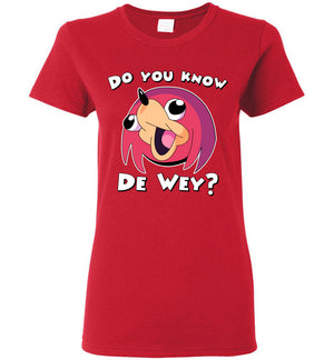 Ugandan Knuckles ladies tee - Do you know de way? - Absurd Ink