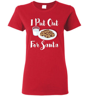 I Put Out For Santa - Ladies Tee - Absurd Ink