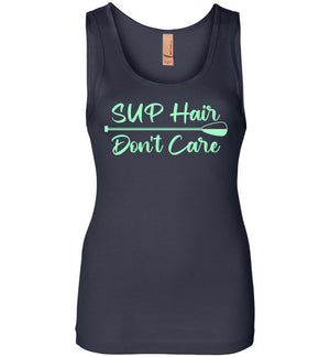 SUP Hair Don't Care - Ladies Tank - Absurd Ink
