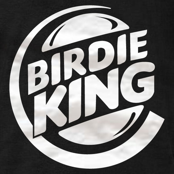 Disc Golf T-Shirt - Birdie King (white) - Absurd Ink