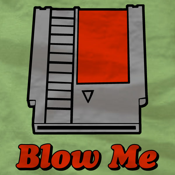 Blow Me - NES Cartridge - T-Shirt - Absurd Ink
