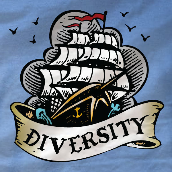 Anchorman - Long Sleeve Tee - Diversity - Absurd Ink