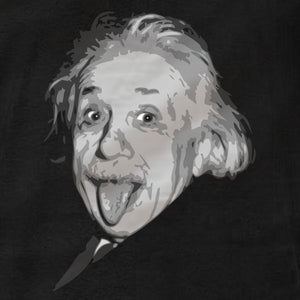 Albert Einstein Tongue Out - Hoodie - Absurd Ink