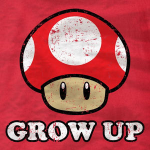 Grow Up Red Mushroom Ladies Tee