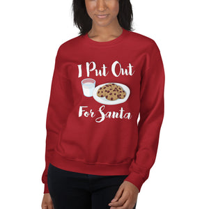 I Put Out For Santa - Sweatshirt - Absurd Ink