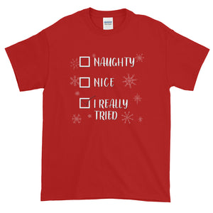 I Really Tried Christmas - T-Shirt - Absurd Ink