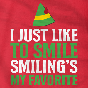 I Just Like To Smile - Elf - T-Shirt - Absurd Ink