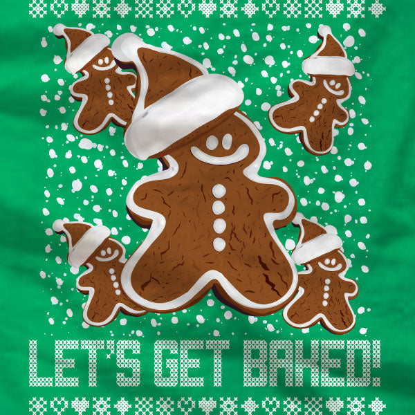 Lets Get Baked - Sweatshirt - Gingerbread Man - Absurd Ink