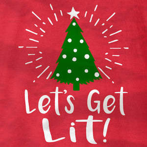 Lets Get Lit - Christmas Tree - Long Sleeve - Absurd Ink