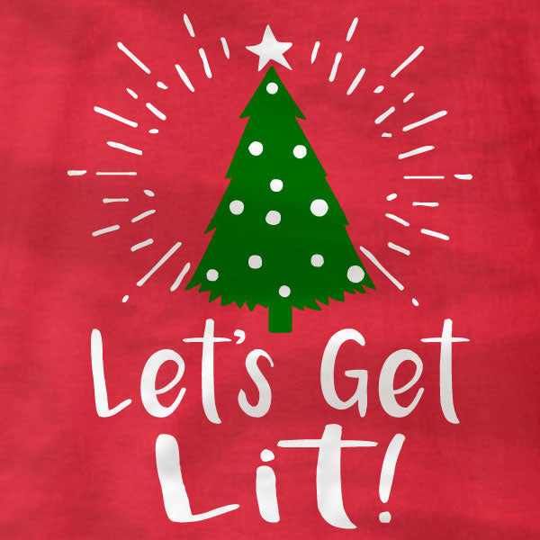 Lets Get Lit - Christmas Tree - Sweatshirt - Absurd Ink