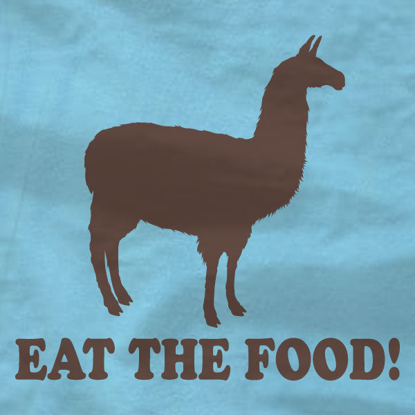 Llama - T-Shirt - Eat The Food - Napoleon Dynamite - Absurd Ink