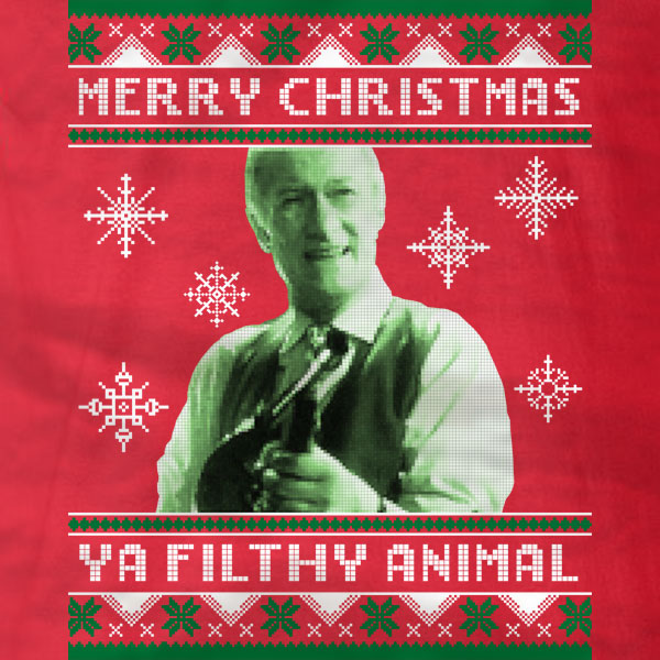 merry christmas ya filthy animal long sleeve t shirt absurd ink - Merry Christmas Ya Filthy Animal