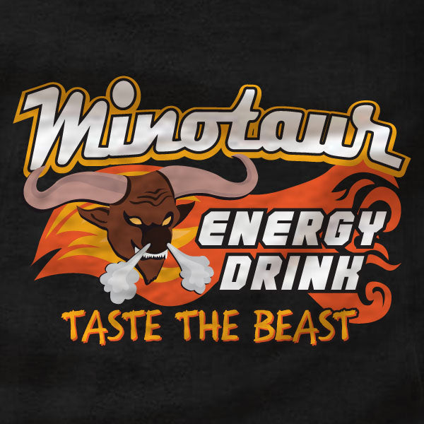 Minotaur Energy Drink - T-Shirt - Role Models - Absurd Ink