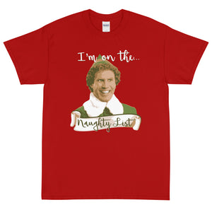Elf Christmas T-Shirt - Naughty List - Absurd Ink