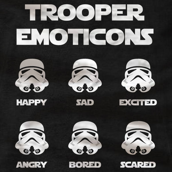 Stormtrooper Emoticons -  Gildan Short-Sleeve T-Shirt - Absurd Ink