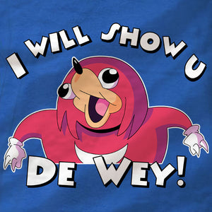 Ugandan Knuckles Long Sleeve Tee - I will show u - Absurd Ink