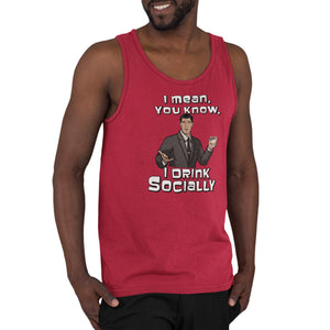Archer I Drink Socially Tank Top
