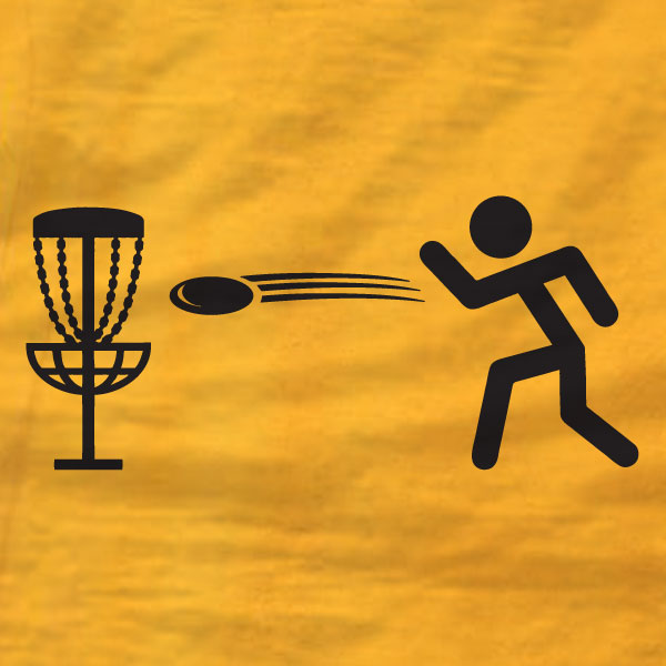 Disc Golf Shirt - Stick Man - Gildan Short-Sleeve T-Shirt - Absurd Ink