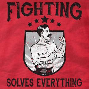 Fighting Solves Everything - Unisex Tee - Absurd Ink
