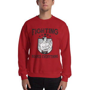Fighting Solves Everything - Sweatshirt - Absurd Ink