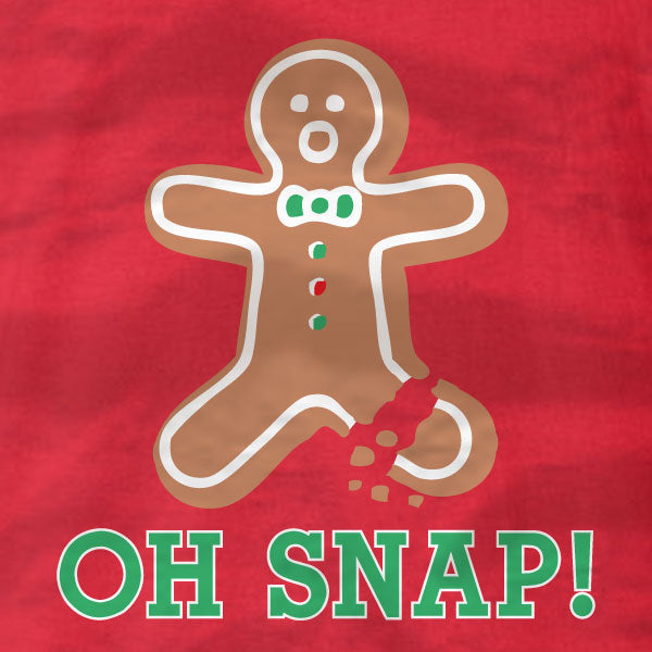 Gingerbread Man - Oh Snap - Ladies Tee - Absurd Ink