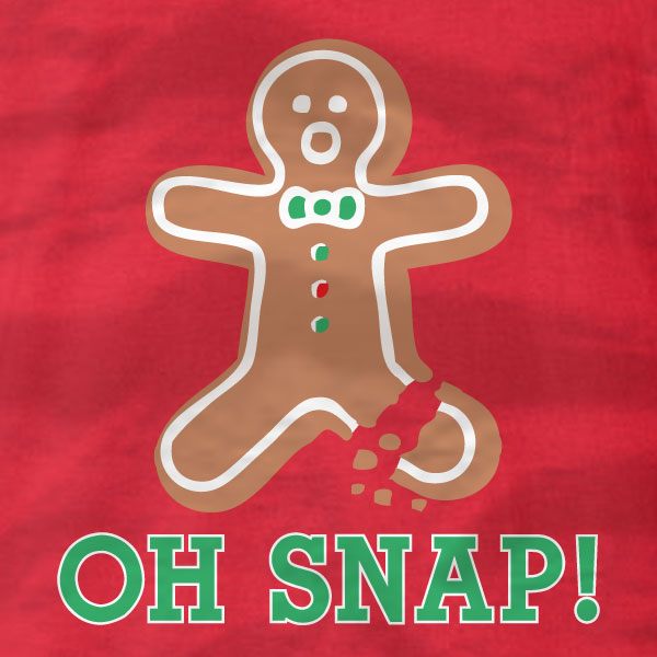 Gingerbread Man - Oh Snap - Long Sleeve T-Shirt - Absurd Ink