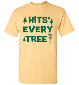 Disc Golf T-Shirt - Hits Every Tree - Absurd Ink