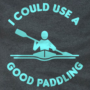 Kayaking Ladies Tee - I Could Use A Good Paddling - Absurd Ink