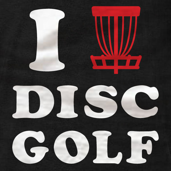 Disc Golf T-Shirt - I Love Disc Golf - Absurd Ink