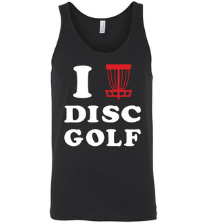 Disc Golf Shirt - I Love Disc Golf - Tank - Absurd Ink