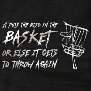 Disc Golf Shirt - In The Basket - Tank Top - Absurd Ink