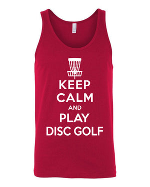 Disc Golf Tank Top - Keep Calm And Play Disc Golf - Absurd Ink