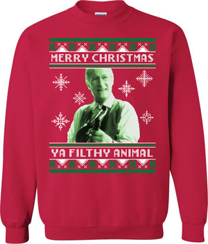 Merry Christmas Ya Filthy Animal - Sweatshirt - Absurd Ink