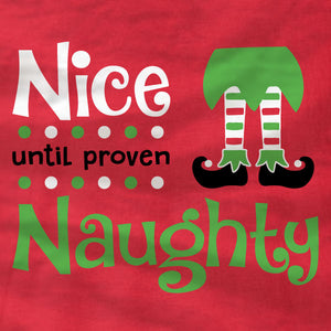 Nice Until Proven Naughty - Sweatshirt - Absurd Ink